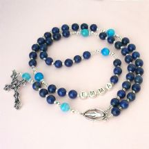 Lapis Lazuli Rosary Beads with Name